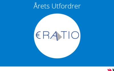 ERATIO kåret til Årets Utfordrer 2018 av Visma